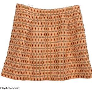 J. Crew Skirt With Pockets - Fun Geometric Pattern